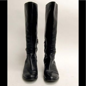 Michael Kors Tall Black Leather Riding Boots